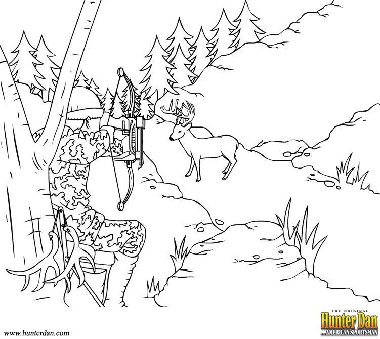 Best Deer Hunting Coloring Pages Printable In Beatiful