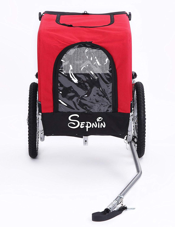 Sepnine 2 in 1 Medium Sized Comfortable Bike Trailer