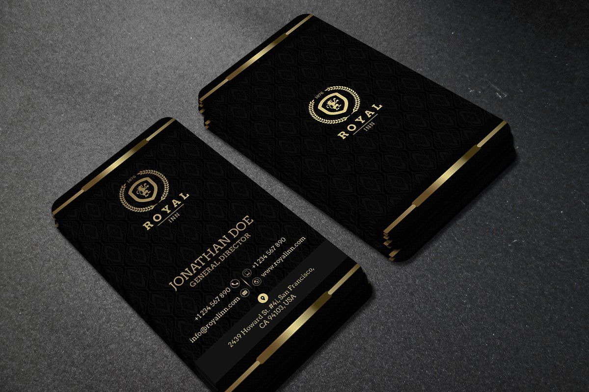 Gold And Black Business Card 52 Black Business Card Gold Business Card Business Card Photoshop