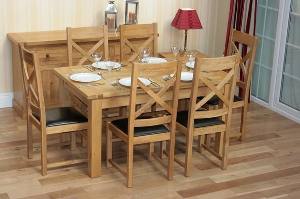 New 5Ft  8Ft Extending Solid Oak Dining Room Table And 6 Chairs Best Oak Dining Room Table And 6 Chairs Review
