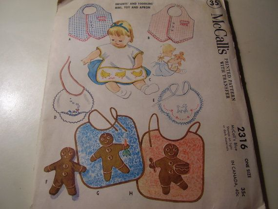 Vintage 1950's McCall's 2316 Infants and Toddlers' by TheLastPixie