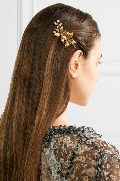 eb43548a515 Jennifer Behr - Layla Bobby gold-plated Swarovski crystal hair slide ...