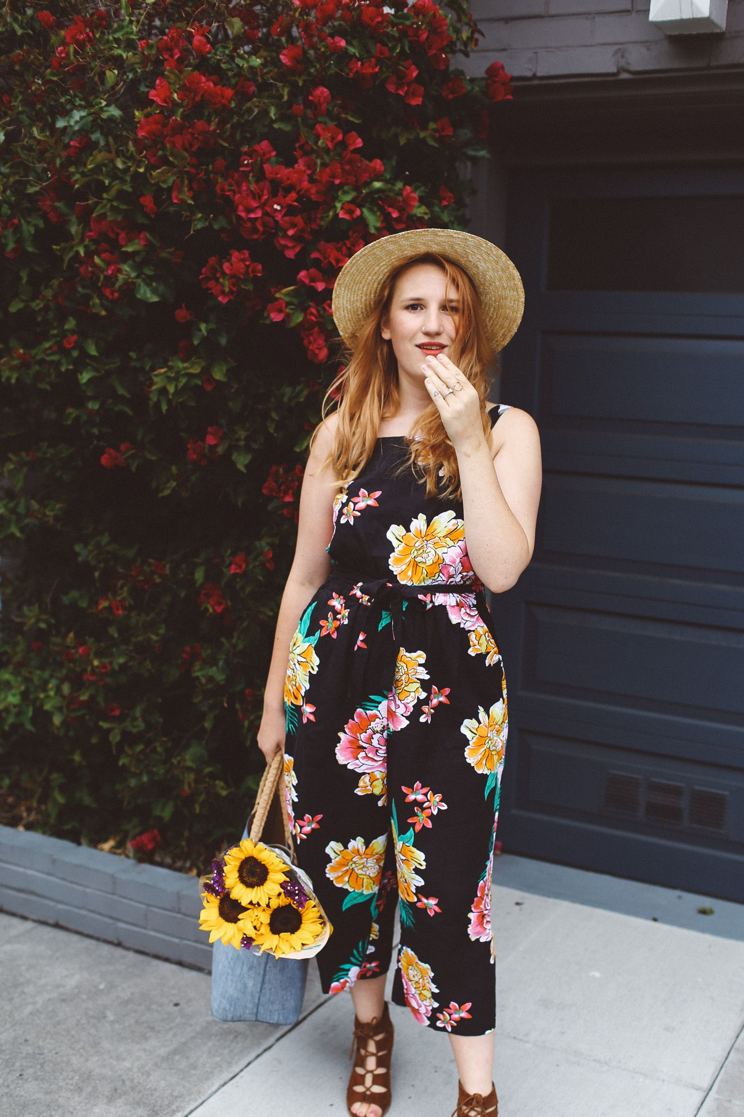 ed56de3b210 Black Floral Jumpsuit from Old Navy! check it out here  http