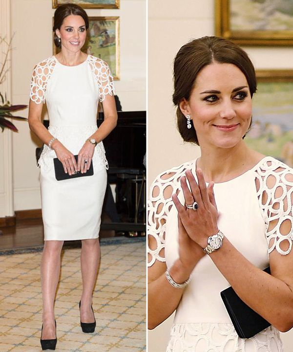 4d8665b557 Já repararam nos vestidos brancos de Kate Middleton  São ótimas inspirações  para o casamento civil
