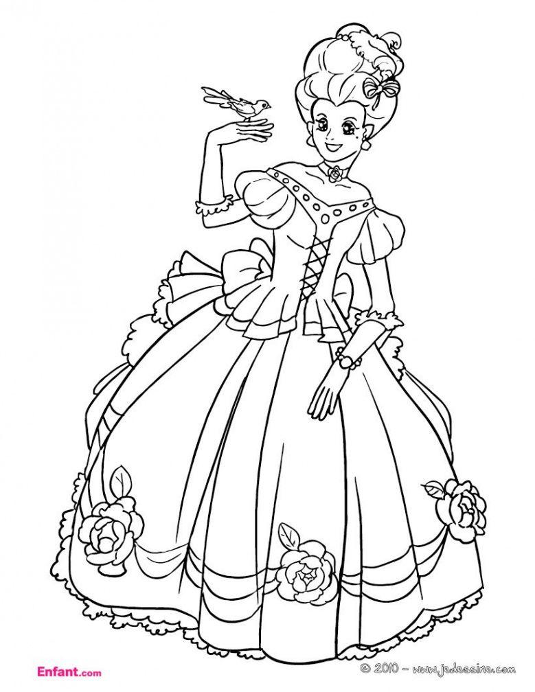 Coloriages Pour Fille La Princesse Concernant Coloriage D
