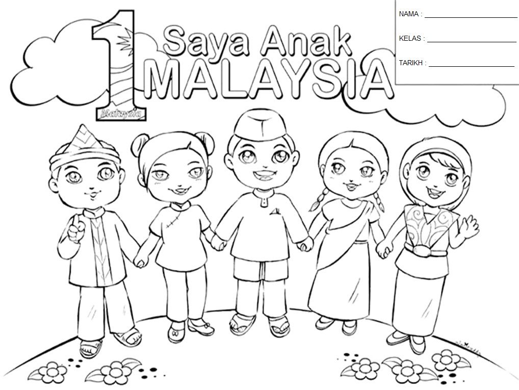 1 Malaysia Coloring pages Coloring pages for kids