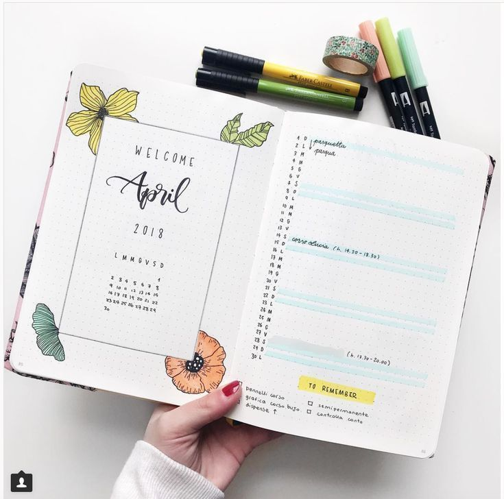 20 diseños de distribución mensual para su Bullet Journal – Ideas e inspiración – Diseños de cal cuadrada
