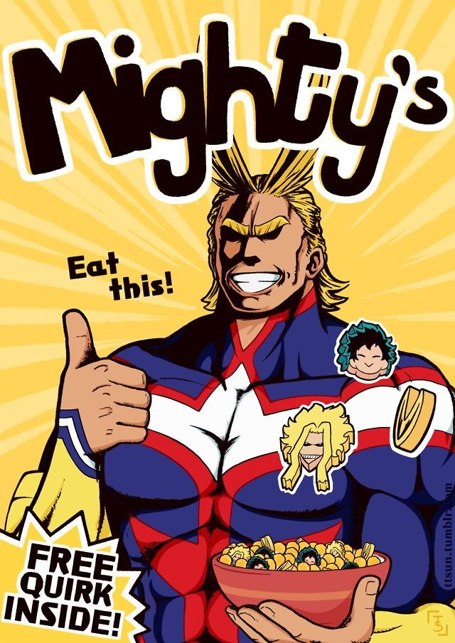 This is an All Might cereal, I would CEREALOUSLY buy 100