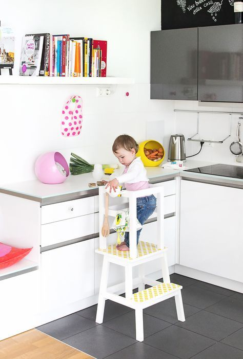 Ikea Hack, Lernturm selber bauen, Learning Tower, Learning Tower DIY - küche selbst gebaut
