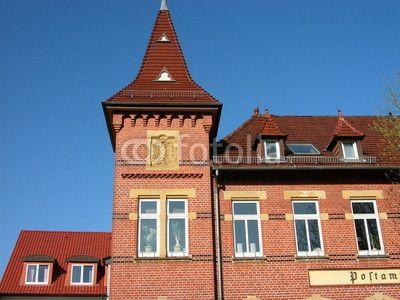 Das ehemalige Postamt in Oerlinghausen bei Bielefeld aus