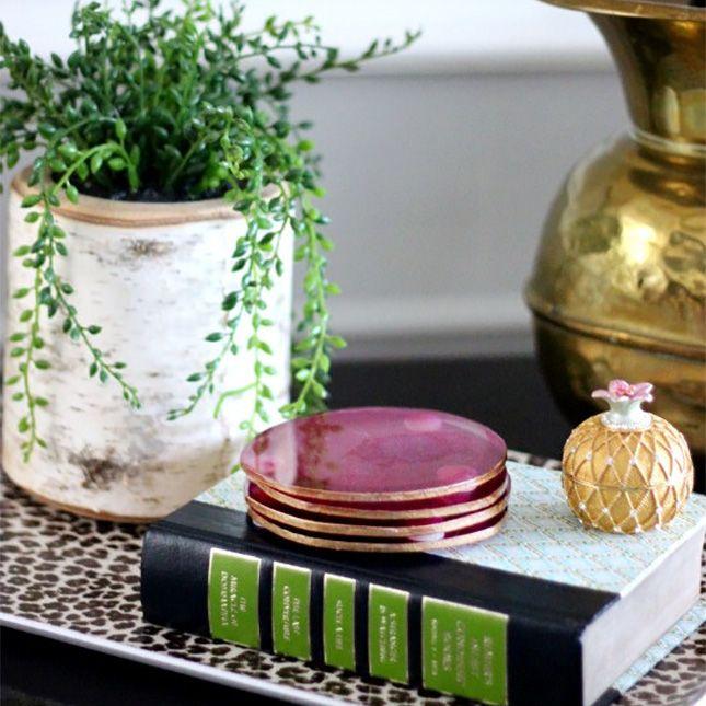 20 Gorgeous Gold Leaf Housewares to DIY This Weekend via Brit + Co