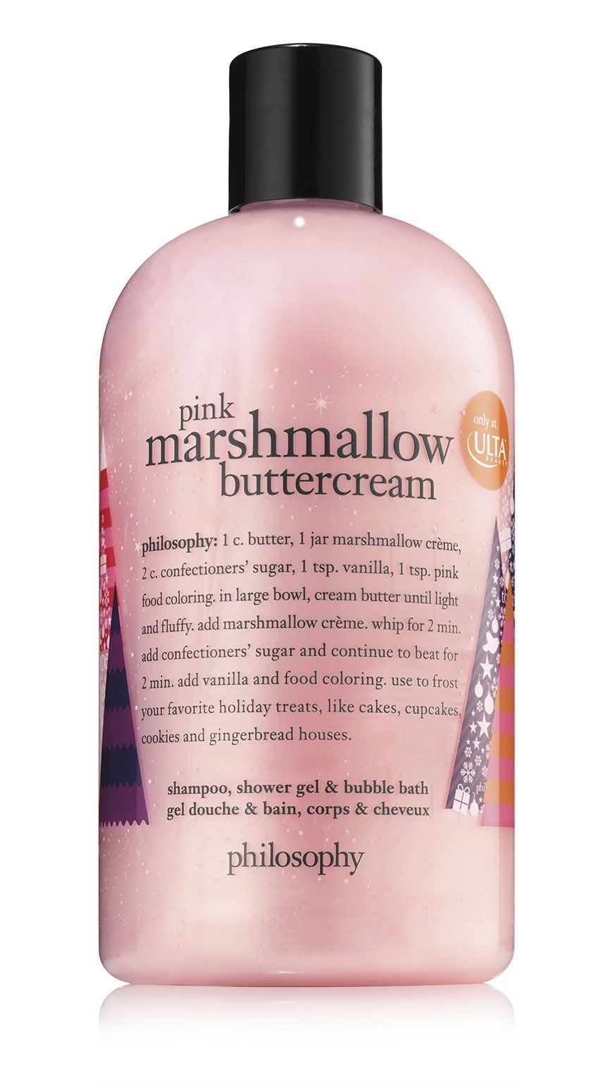 Pamper Skin And Hair With Pink Marshmallow Buttercream Shampoo Shower Gel Bubble Bath A Hydrating Form Pink Marshmallows Marshmallow Buttercream Shower Gel