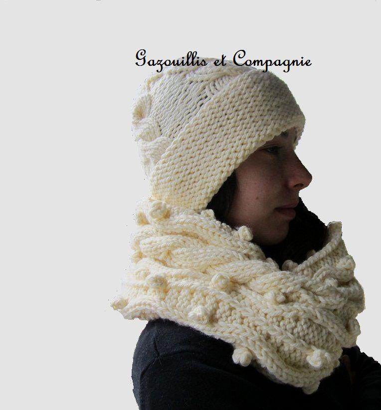 tuto snood et bonnet tricot main gazouillis et compagnie. Black Bedroom Furniture Sets. Home Design Ideas