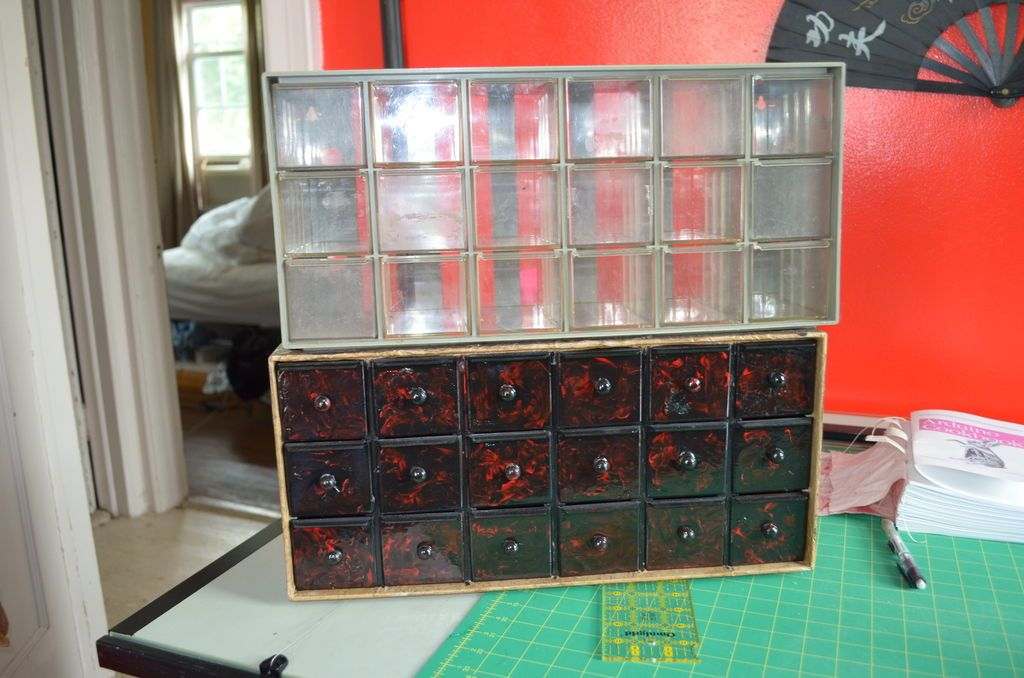 Apothecary Chest From Cheap Plastic Parts Bin Plastic
