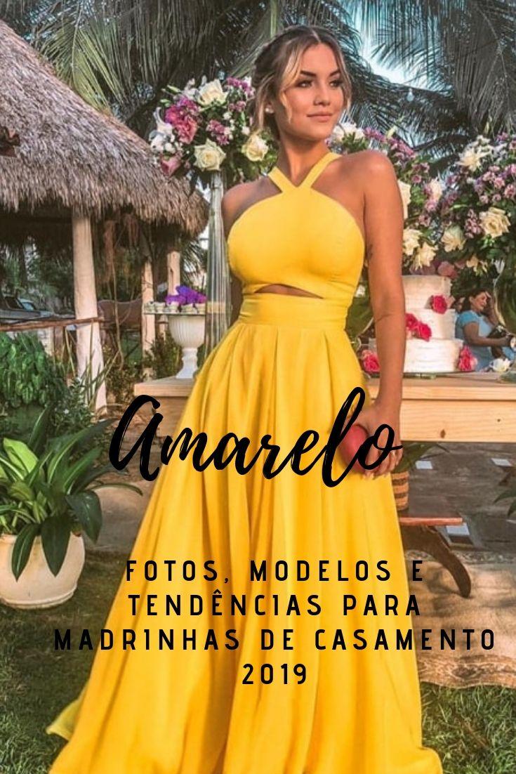Vestido Longo Amarelo Fotos Modelos E Tendências Para
