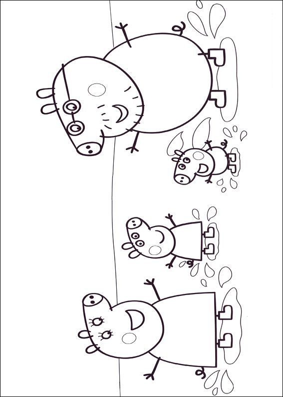 kleurplaat peppa de big - Peppa Pig Coloring pages Pinterest - new free coloring pages for peppa pig