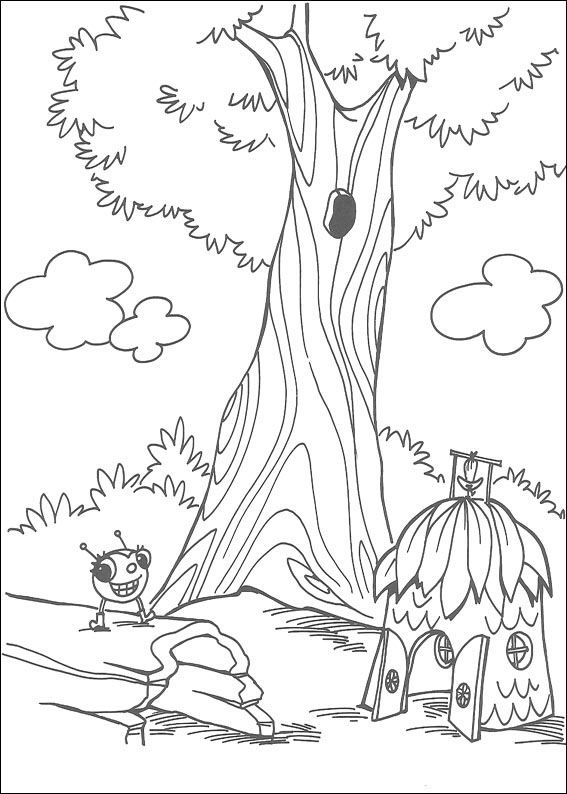 miss spider coloring pages 1