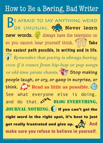 great poster about writing