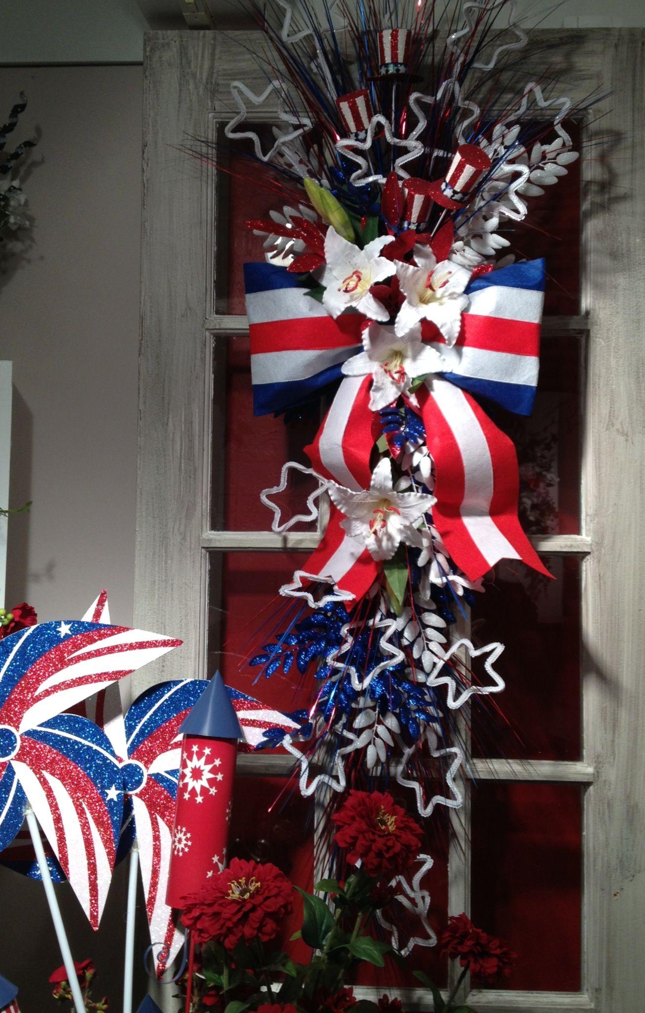 July 4th door swag Happy birthday america, Fourth of