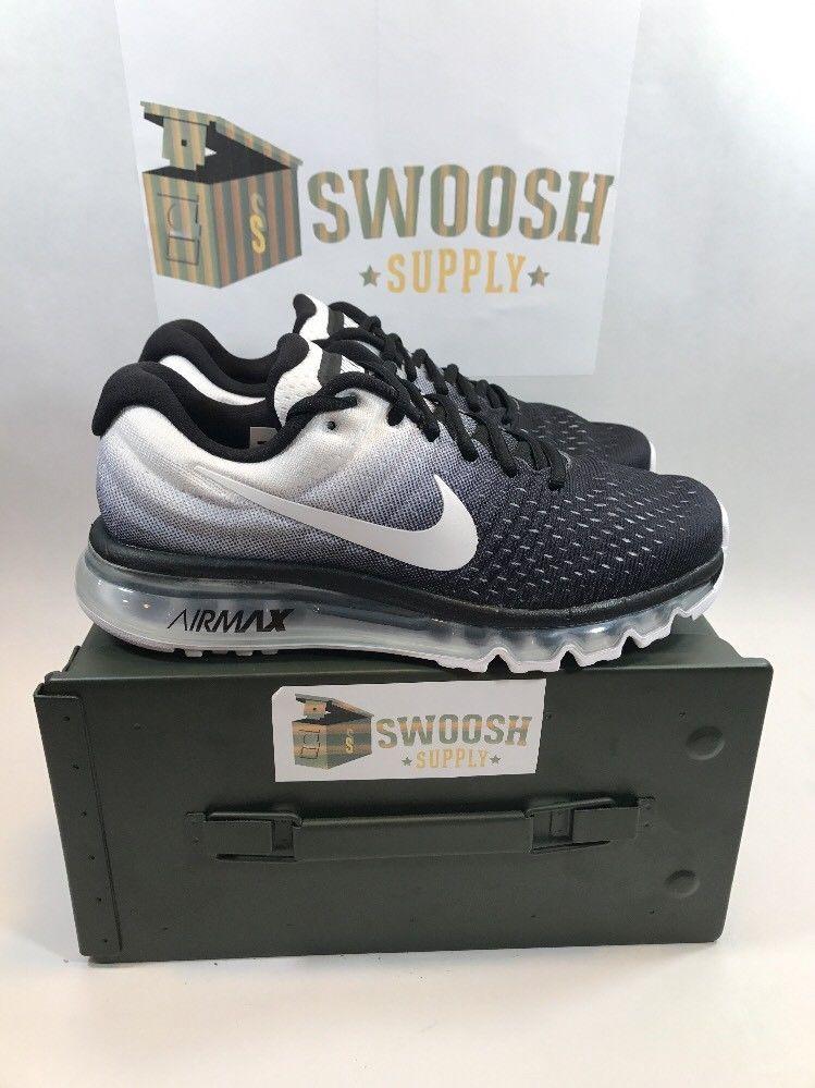 ... Nike Women s Air Max 2017 Oreo Running Shoes Sz 9 Black White Grey  849560-  Nike Flyknit ... cb3513036e73