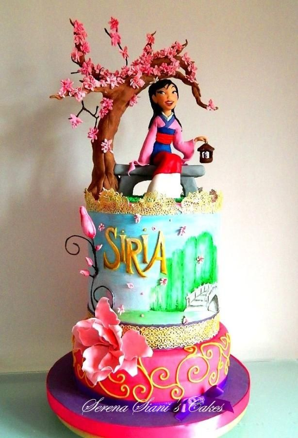 Incredible Mulan Cake Cake By Serena Siani Disney Birthday Cakes Disney Funny Birthday Cards Online Bapapcheapnameinfo
