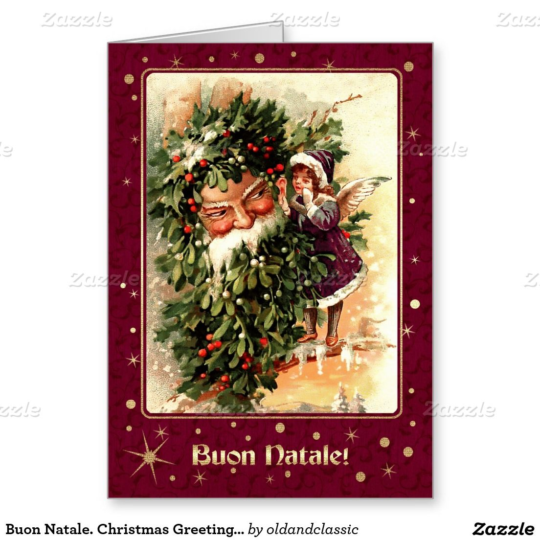 Buon Natale Christmas Greeting Card In Italian Pinterest
