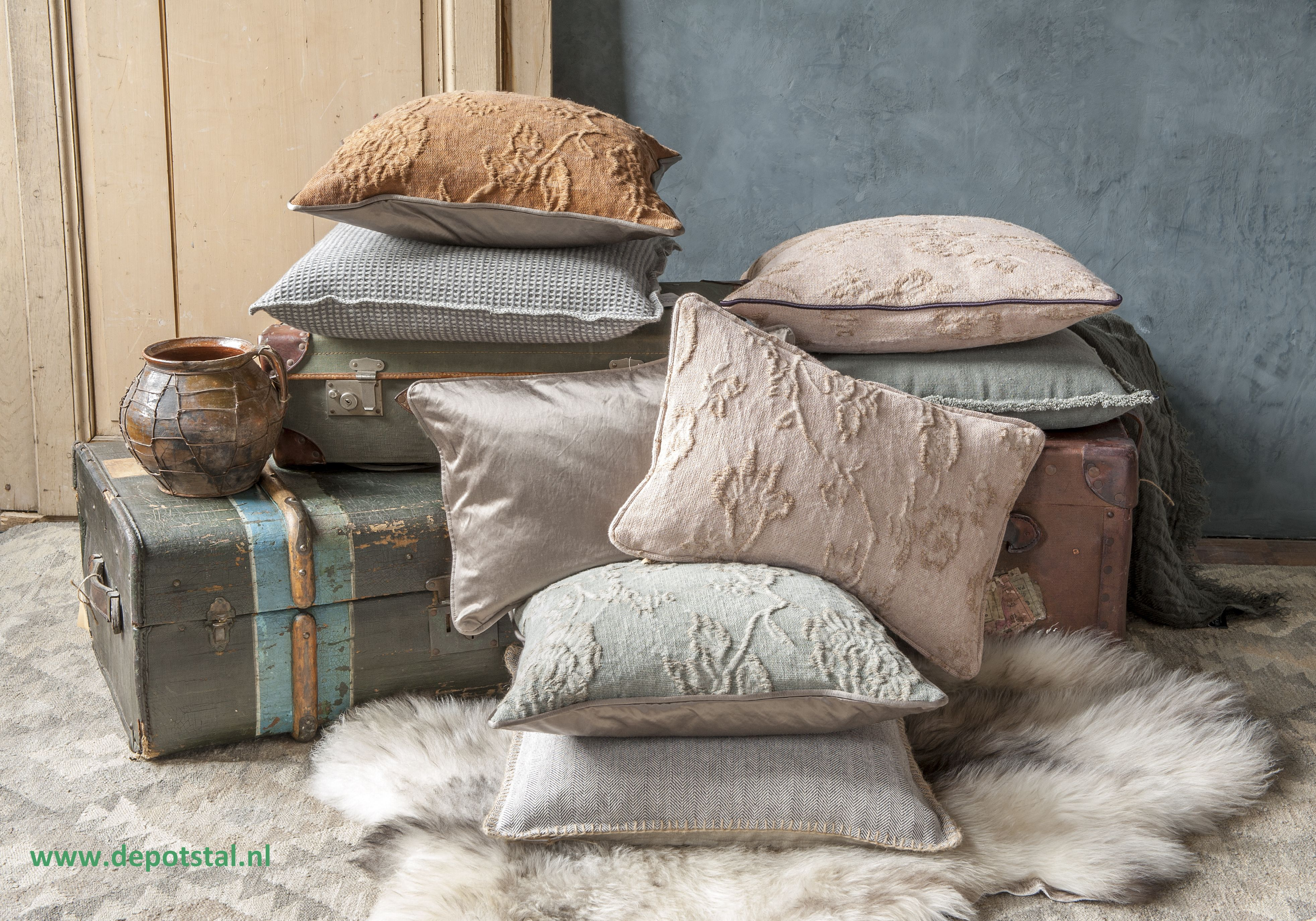 Pillows made of beautiful fabrics picture by Joyce Vloet
