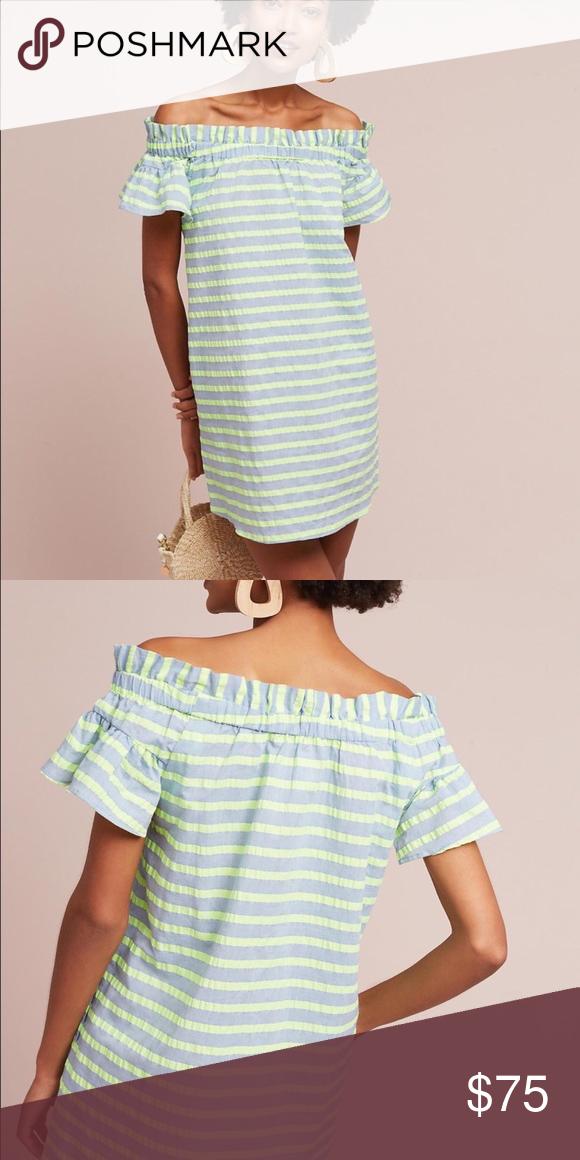 d52d7c1f752 NWOT Cory Lynn Calter Bayside dress Off the shoulder. Never worn  Anthropologie Dresses Mini