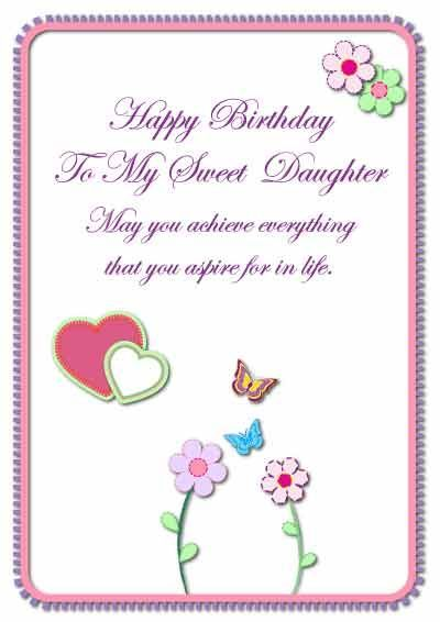 Love you Printable birthday cards and Birthdays – Birthday Daughter Card