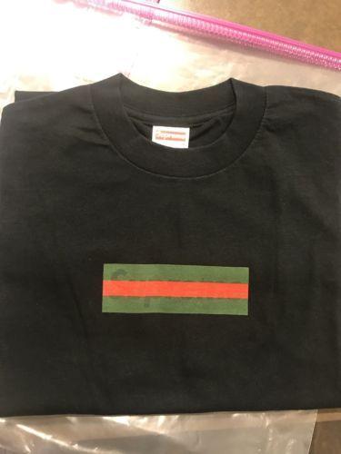 supreme gucci box logo tee shirt black medium ds bogo men s