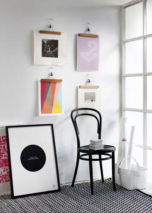 dekolehti, taide, sommitteluidea, taulujen sommittelu seinälle