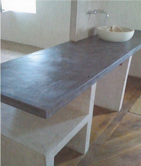 plan de travail en b ton taloch b ton cir taloch et. Black Bedroom Furniture Sets. Home Design Ideas
