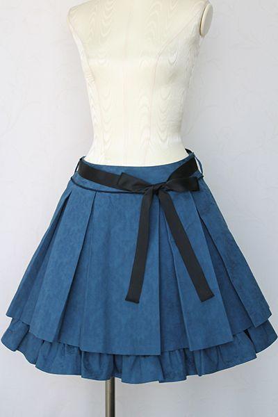 レジメンタルストライププリーツスカート Victorian maiden