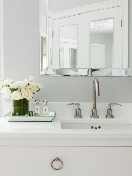 Susan Glick Interiors Bathrooms Beveled Mirror Bathroom Beveled Mirror Beveled Bathroom