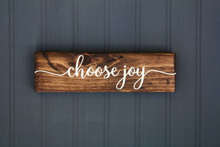 Inspirational Sign Choose Joy Rustic Wood by LibertyIslandFarm