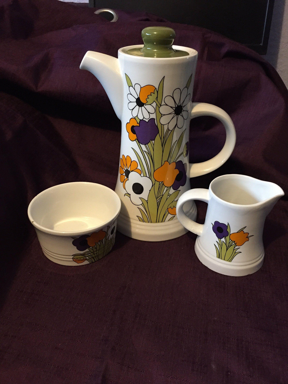 Royal Tudor Ware SpringTime Ironstone Coffee Set Coffee