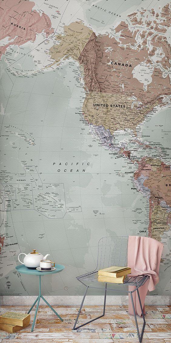 Clic World Map Wallpaper | Stylish Map Mural ... on travel wallpaper, world car wallpaper, usa wallpaper, popular wallpaper, world paper wallpaper, black wallpaper, compass wallpaper, world atlas wallpaper, library wallpaper, us flag wallpaper, city wallpaper, globe wallpaper, world at night wallpaper, world clock wallpaper, asia wallpaper, world flag wallpaper, world pirate maps, calendar wallpaper, africa wallpaper, world history wallpaper,