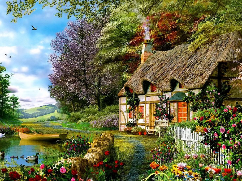 Pin By Aisha On A Tout Ce Que J Aime Cottage Art Cafe Pictures Landscape