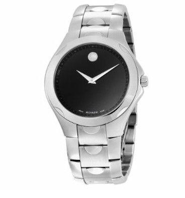 movado men s 606378 luno sport stainless steel black round dial movado men s 606378 luno sport stainless steel black round dial bracelet watch 596 25 amazon