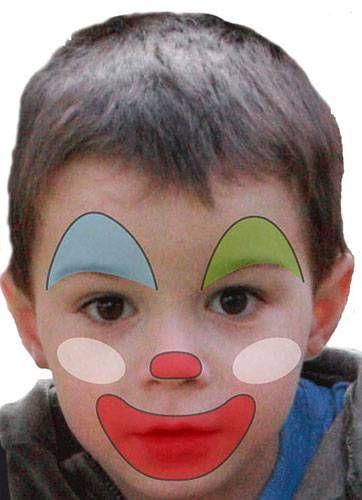 Kinderschminken Einfache Vorlagen Fur Karneval Kinder Schminken Clown Schminken Kind Clown Gesicht Malen