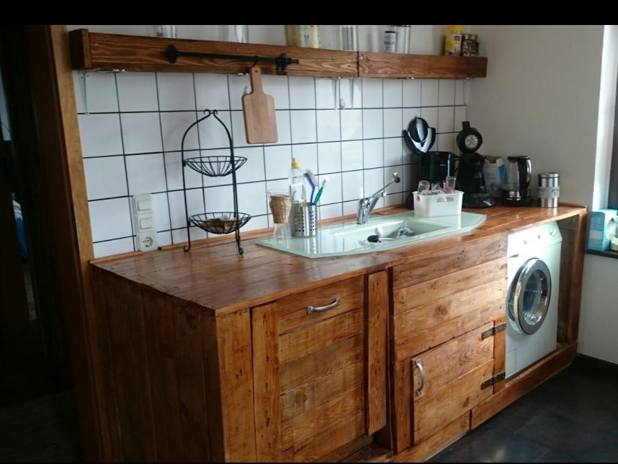 Wunderschöne rustikale Küche, einfach selbst gebaut - \