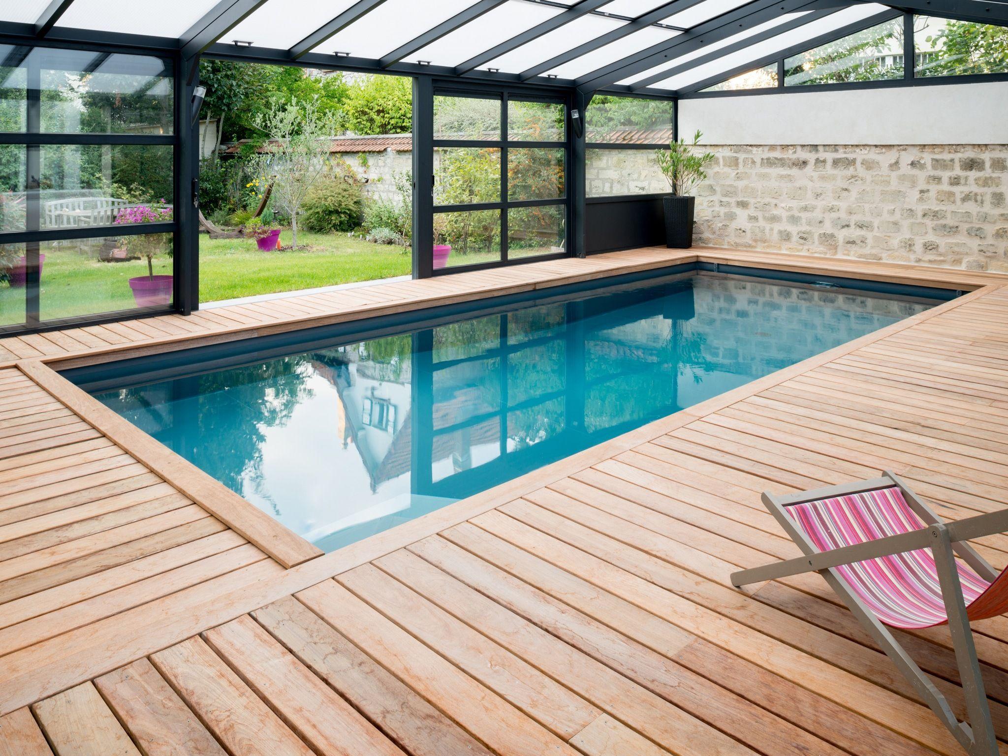 L'abri piscine par l'esprit piscine 8 x 3,5 m Revêtement