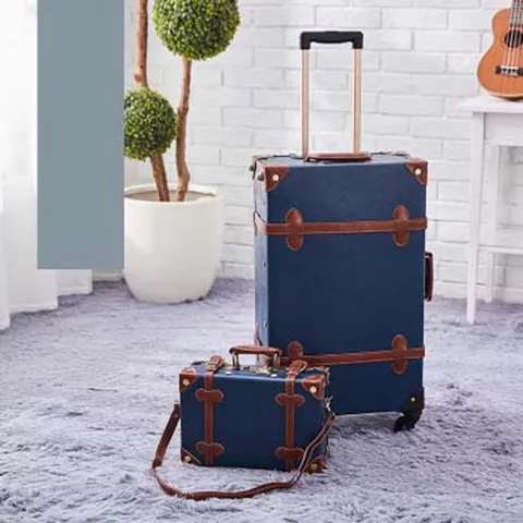 2019 New Vintage Floral Pu Travel Bag Rolling Luggage Sets 13 20 22 24 26 Inch Women Retro Trolley Suitcase On Univers Luggage Sets Vintage Cabin Luggage Sizes