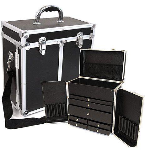 Black Makeup Case W Drawers Ts 14 R Black Makeup Case Makeup Case Case