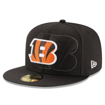 New Era Cincinnati Bengals Black Sideline Official 59FIFTY Fitted Hat   bengals  cincinnati  nfl adf13b358