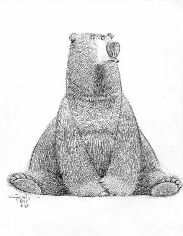 Рисунок смешное животное карандашами