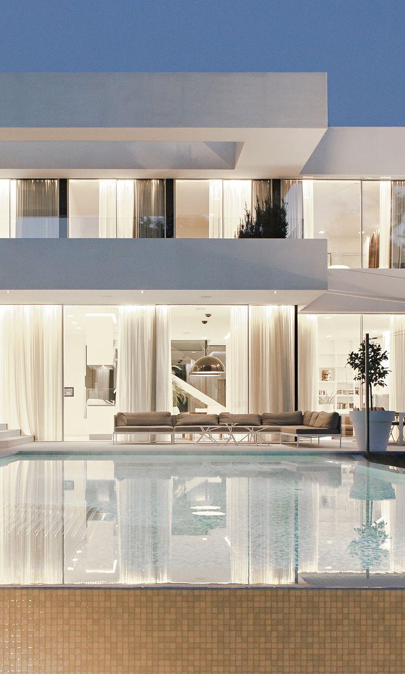 Sensacional cuadrada y Minimalista  Architettura  Modern architecture house House design