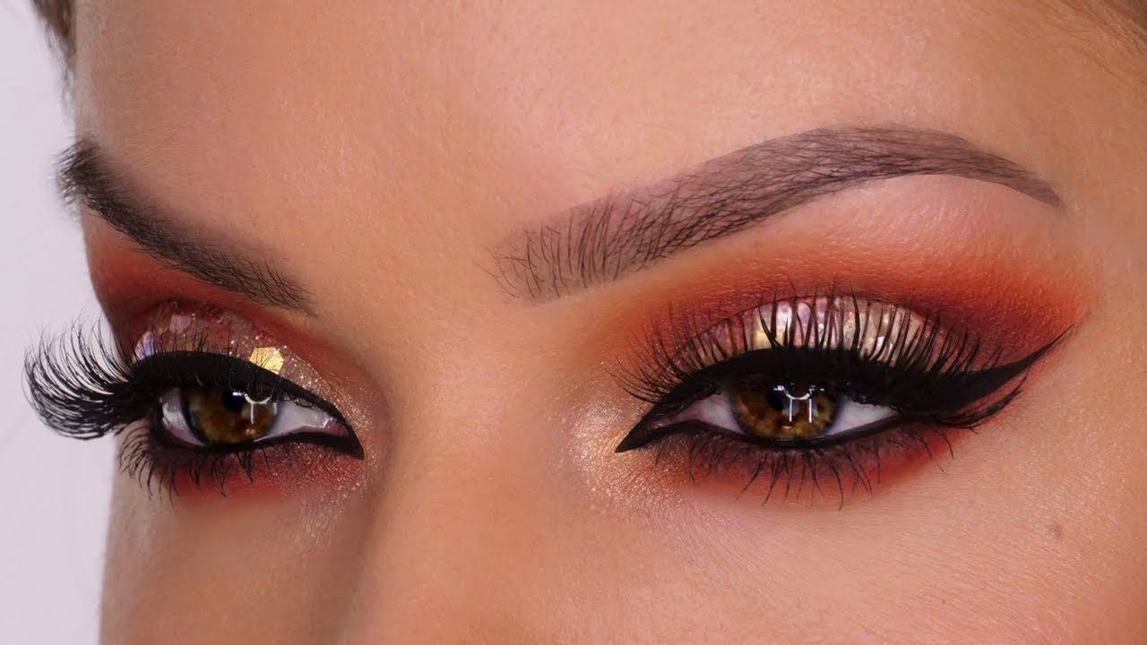 Rose Gold Disco Glitter MakeUp Tutorial For Christmas