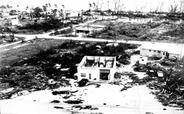 Cockran's Garage after hurricane Donna