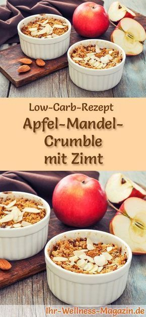 Low Carb Apfel-Mandel-Crumble mit Zimt - gesundes Rezept fürs Frühstück